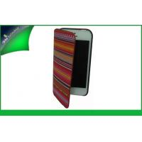 Buy cheap Flip Wallet Apple Iphone Leather Cases With Coth , Iphone 5 / 5s Phone Cover from wholesalers