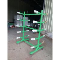 China OEM Double sided Movable Supermarket Display Rack with 4 Wheels Storage Handcart on sale