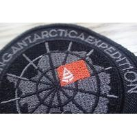 Buy cheap Washable Black Polyester Custom Clothing Patches / Adhesive Embroidered Patches from wholesalers