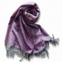 Buy cheap Silk Pashmina Blended Scarf and Shawl, Various Designs are Available product