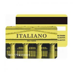 China Metallic Membership Vip Card , Thin Custom Printed Pvc Magnetic Cards on sale