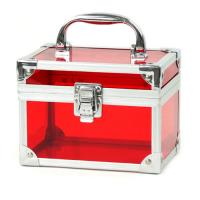 Wholesale Red Acrylic Cosmetic Organizers , Portable Makeup Artist Organizer from china suppliers