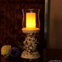 Buy cheap Polyresin angel  candle holder with LED wax pillar candle from wholesalers