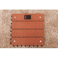 Buy cheap Wpc decks  interlocking outdoor flooring with solar light from wholesalers