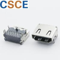Buy cheap Three Rows PIN HDMI Female Connector , DIP 19 Pin HDMI Connector Bronze Material Contact from wholesalers