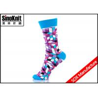 Buy cheap Colorful Argyle Sexy Ladies Fashion Socks , Sex Trendy Socks for Girls with Nylon / Cotton from wholesalers