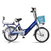 Buy cheap 24'' Aluminum Rims Lithium Single Speed City Bike Blue Pedal Assist Electric Bike from wholesalers