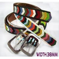 China fashion multi-color fabric belts patchwork for girl students on sale