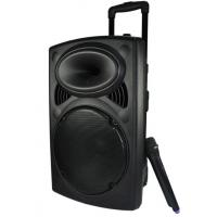 Plastic Rechargeable Portable Trolley Speakers With Wireless Microphone Manufactures