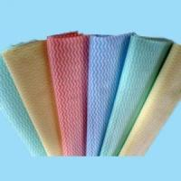 Wholesale cross lapping spunlace nonwoven fabric for household/kitchen cleaning wipes from china suppliers
