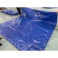 China PVC Waterproof Tarpaulin Container Cover With Eyelet on sale