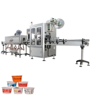 Buy cheap Plastic cups shrink sleeve labeling machine coffee cups shrink sleeve applicator machine from wholesalers