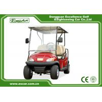Buy cheap Red 6 Seater Club Car Golf Cart With Rain Cover , ADC 48V 3.7KW Motor from wholesalers