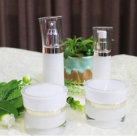 Buy cheap Luxury 20g White PET Airless Pump Travel Cream Jars With Lid from wholesalers