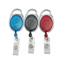 Buy cheap Transparent Retractable Reel Badge Holder With Vinyl Strap Safety Promotional Retractor from wholesalers