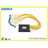 Buy cheap 1x16CH CWDM Mux Demux Module 1260~1620nm LC connecter Multiple wavelengths to choose from wholesalers
