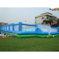 Buy cheap Giant Inflatable Sports Games Football / Soccer Field With Inflatable Floor from wholesalers