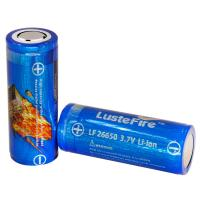 Lustefire 26650 5000mAh 3.7V rechargeable lithium ion battery, flashlight li-ion charge batteries Manufactures