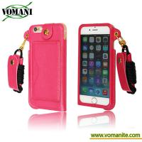 Buy cheap Credit Card Holder With Hang Rope Holster Case Cover Skin For Apple iPhone6 new from wholesalers