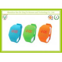 Buy cheap Modern Orange Silicone Rubber Wrist Watches With Led / Touch Screen from wholesalers