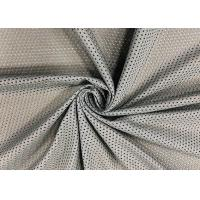 Buy cheap 120GSM Breathable Polyester Mesh Fabric For Gym Bag Office Chair Grey Color from wholesalers