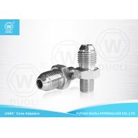 Buy cheap Straight Hydraulic Pipe Adapters With JIS Male And BSPT Male Thread OEM Service from wholesalers