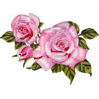 Buy cheap Embroidery Boutique Rose Flower Applique with Iron On backing for DIY patch from wholesalers