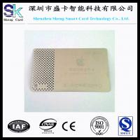 Buy cheap 2014 Newest Engraving Silver Metal Business Card product