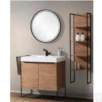 Buy cheap Single Sink Style Metal Frame Bathroom Wash Basin Home Cabinet Hotel Home Center from wholesalers
