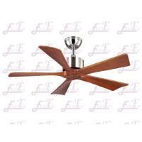 Buy cheap East Fan 42 inch five nature wood blades brushed nickel modern ceiling Fans without light from wholesalers