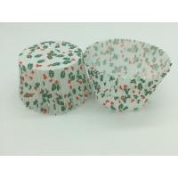 Buy cheap Single Wall Greaseproof Cupcake Liners Cup Cake Wrappers Dim Sum Cherry and Leaf Printing from wholesalers