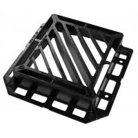 Buy cheap 440 (L) x 400 (W) opeing slotted double triangular ductile iron grating with 3 sided frame flange from wholesalers