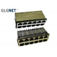 Wholesale Industrial Magnetic 10G Ethernet RJ45 Jack 2x6 Port With EMI Gasket from china suppliers
