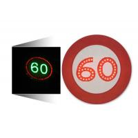 China LED Solar Traffic Signs 60 Mph Speed Limit Sign Aluminum Housing on sale