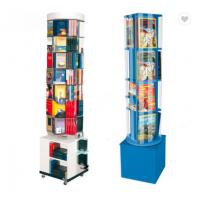 Buy cheap Fashion Rotating Magazine Rack , Mdf Wooden Open Book Display Stand from wholesalers