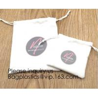 Buy cheap Cream Drawstrings Velvet Bags for Jewelry, Gift, Wedding Favors, Candy Bags, Party Favors,screen printed, hot stamped from wholesalers
