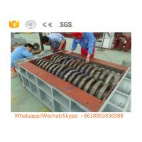 Buy cheap Double Roll Scrap Metal Shredder Machine With PLC Control System Wear Resistant from wholesalers