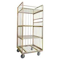 Buy cheap Industrial Galvanized Warehouse Caged Trolley On Wheels , Mobile Cage Trolley from wholesalers