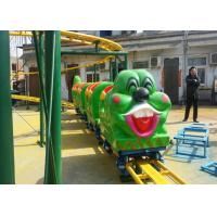 Buy cheap Green Worm Shape Kiddie Roller Coaster For Large Parks And Tourist Attractions from wholesalers