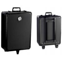 Wholesale Black 2 Wheel Trolley Portable Aluminum Tool Box Traveling Suitcase 580×400×180 mm from china suppliers