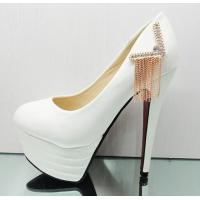 Buy cheap Waterproof fashion high heels shoes wedding shoes tassel shoes from wholesalers