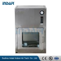 Buy cheap Two - Door Stainless Steel Pass Box , Air Shower Pass Box With Power Indicator Light from wholesalers