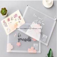 Buy cheap Waterproof Custom Packaging Bags Plastic Clear PVC Stationery File Document Punch from wholesalers