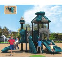 Buy cheap small size outdoor plastic slide professional playground equipment for kids from wholesalers