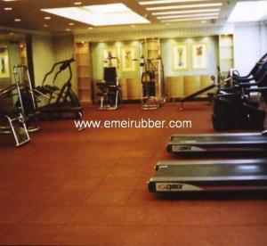 rubber gym floor tiles Manufactures