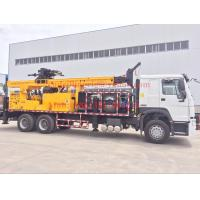 Buy cheap 6x4 Truck mounted water well drilling rigs 600m hydraulic borehole , big diameter from wholesalers