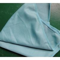 Buy cheap 40 * 40cm 260gsm Microfiber Glass Cleaning Cloth Green Thick Fashinable Soft from wholesalers