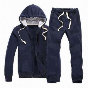 China Sweatsuits/Sports Clothing/Hoodies Coat Cotton Fabric Jacket on sale