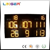 Buy cheap Yellow Electronic Cricket Scoreboard For Stage Background , 1m - 380m View Distance from wholesalers