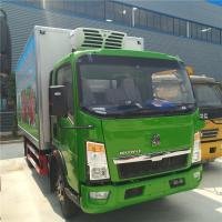 Buy cheap Howo Light Refrigerated Cargo Truck  3 Ton Capacity 4X2 Driving Type from wholesalers